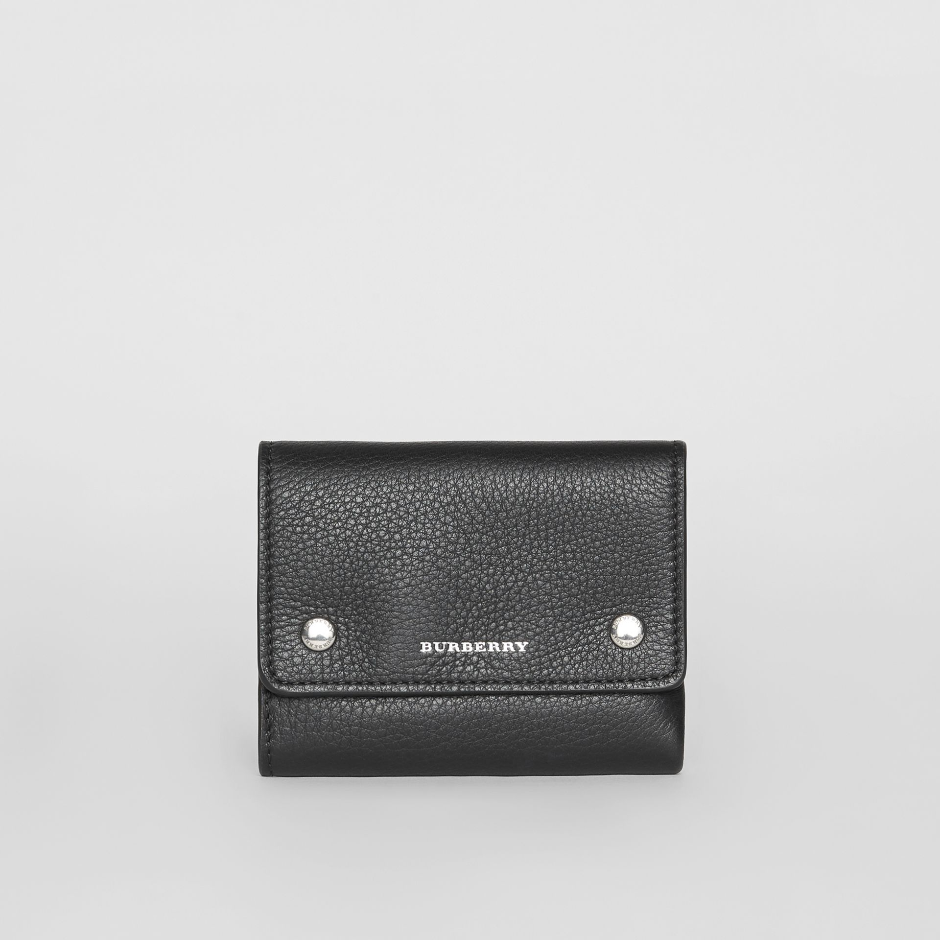 Small Leather Folding Wallet in Black - Women | Burberry - gallery image 2