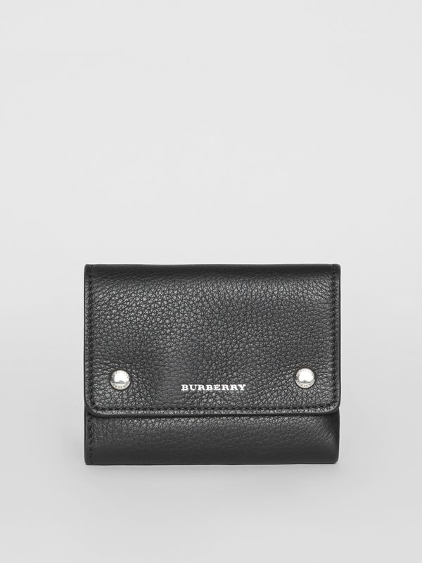 Small Leather Folding Wallet in Black - Women | Burberry - cell image 2
