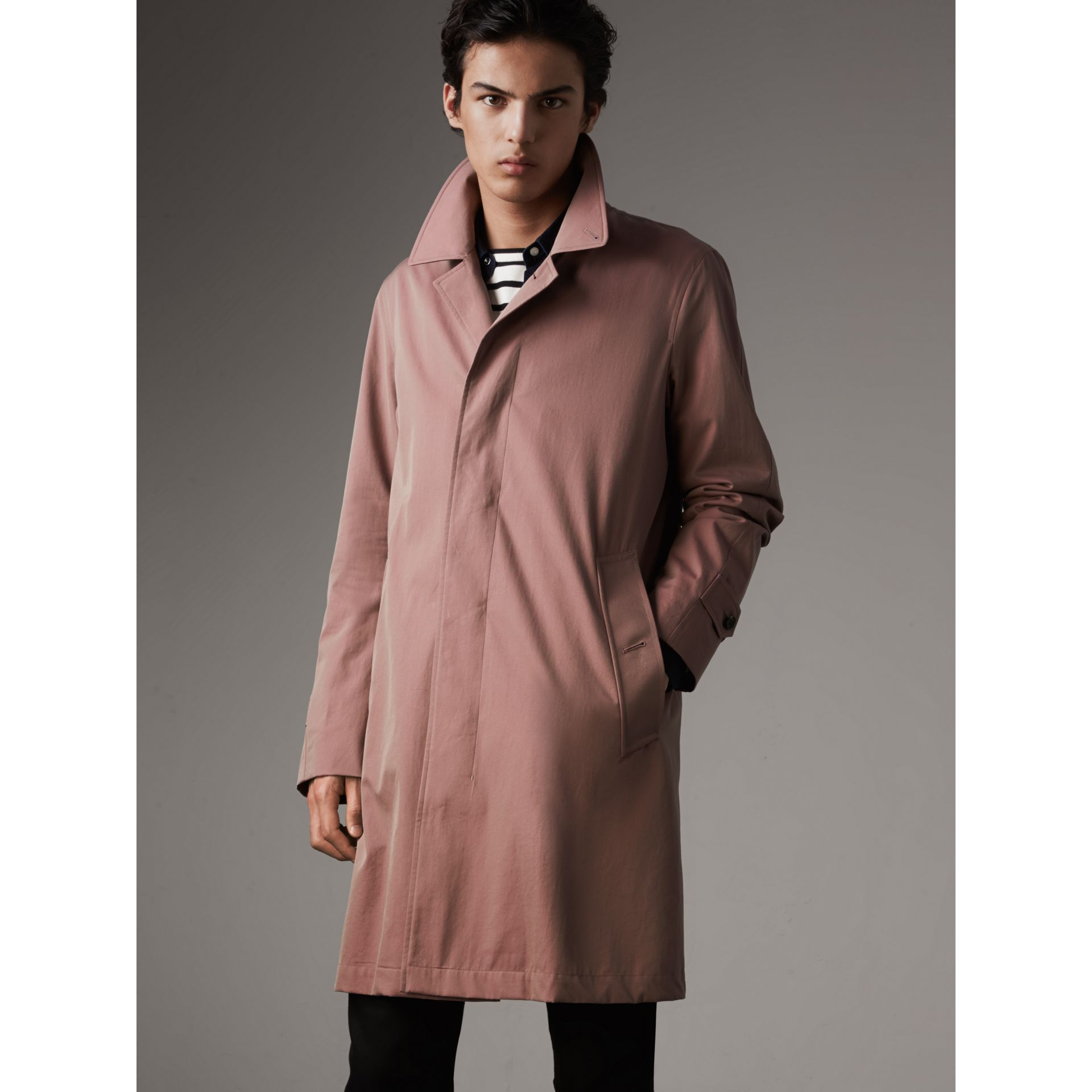 Tropical Gabardine Car Coat in Antique Rose - Men | Burberry - gallery image 6