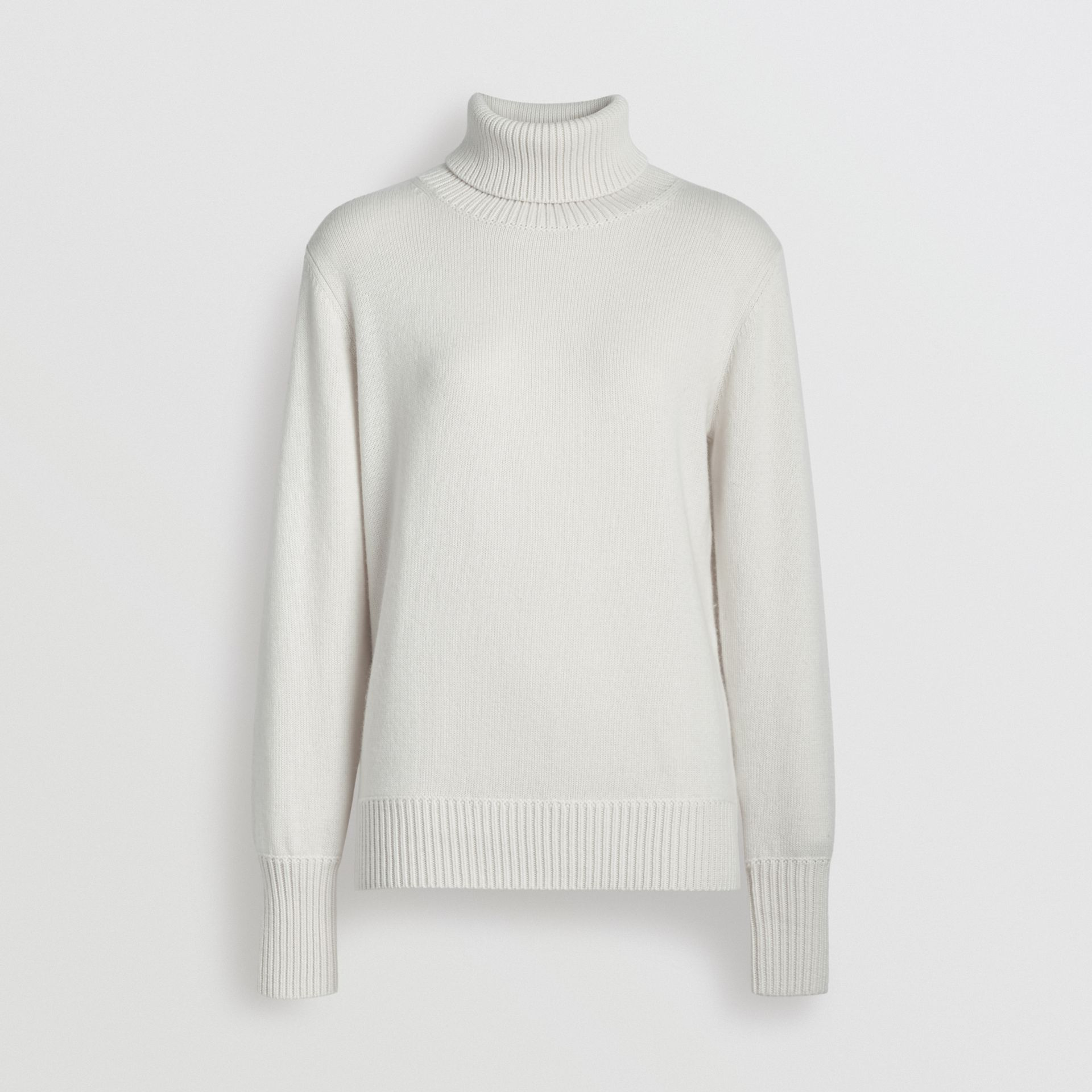 Archive Logo Appliqué Cashmere Roll-neck Sweater in White - Women | Burberry - gallery image 3