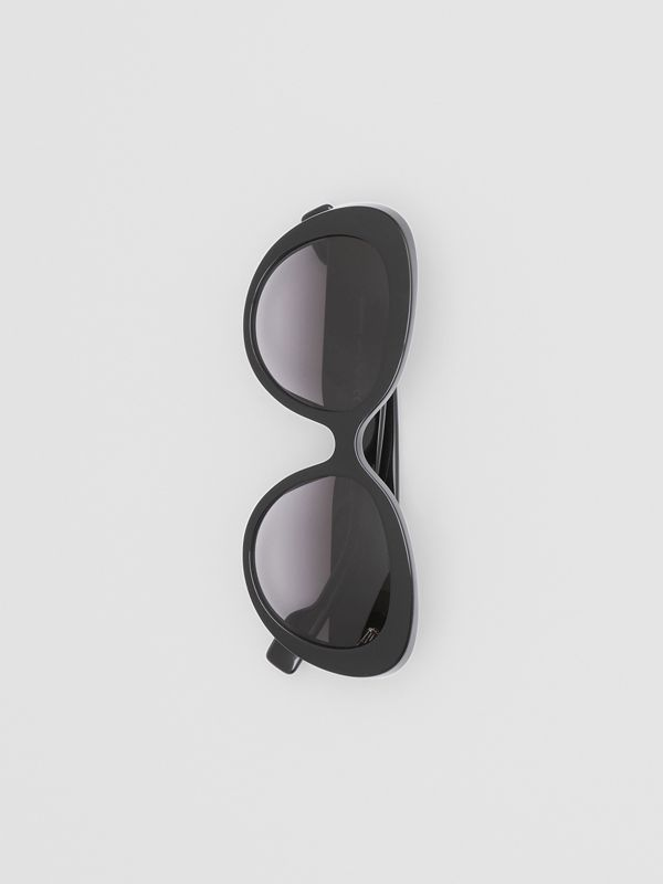 Monogram Motif Cat-eye Frame Sunglasses in Black - Women | Burberry Canada - cell image 2
