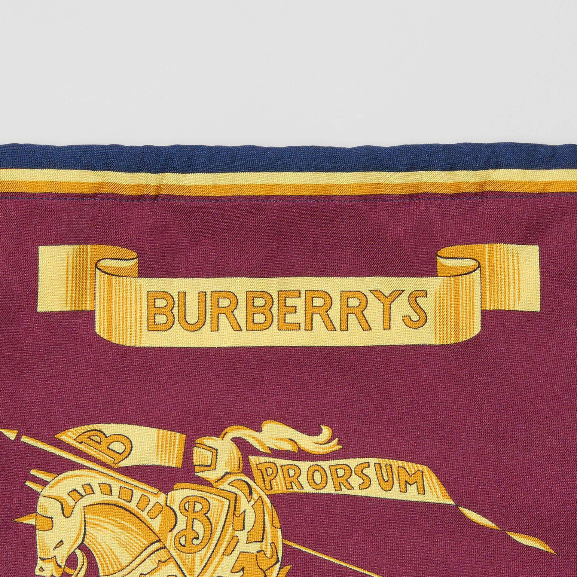 Archive Scarf Print Silk Pouch in Military Red/burgundy - Women | Burberry - gallery image 1