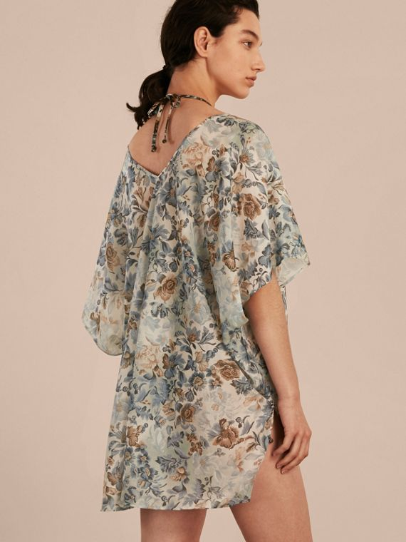 Garden Floral Cotton Silk Swimwear Cover-up - cell image 2