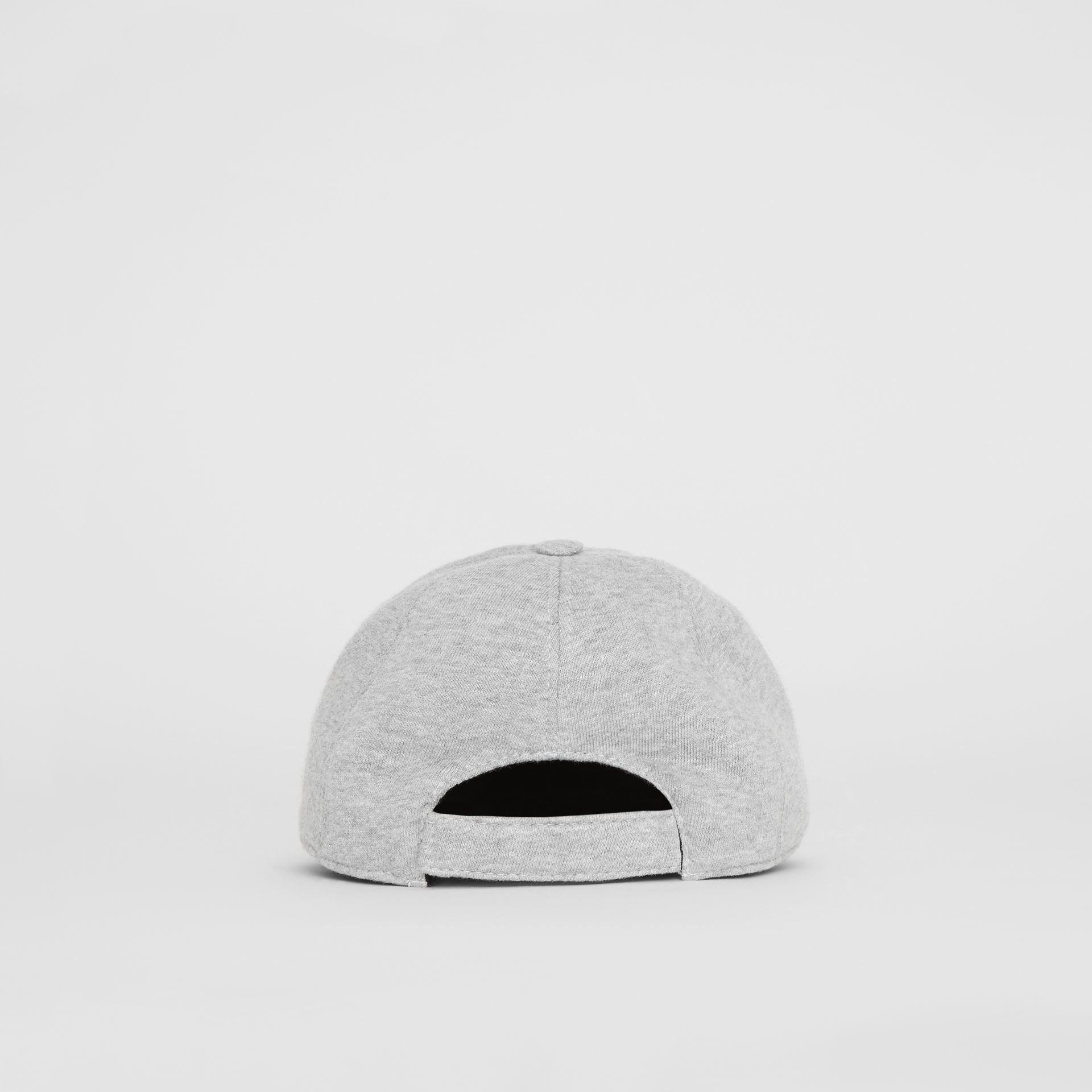Embroidered Logo Baseball Cap in Light Grey Melange - Children | Burberry United Kingdom - gallery image 2