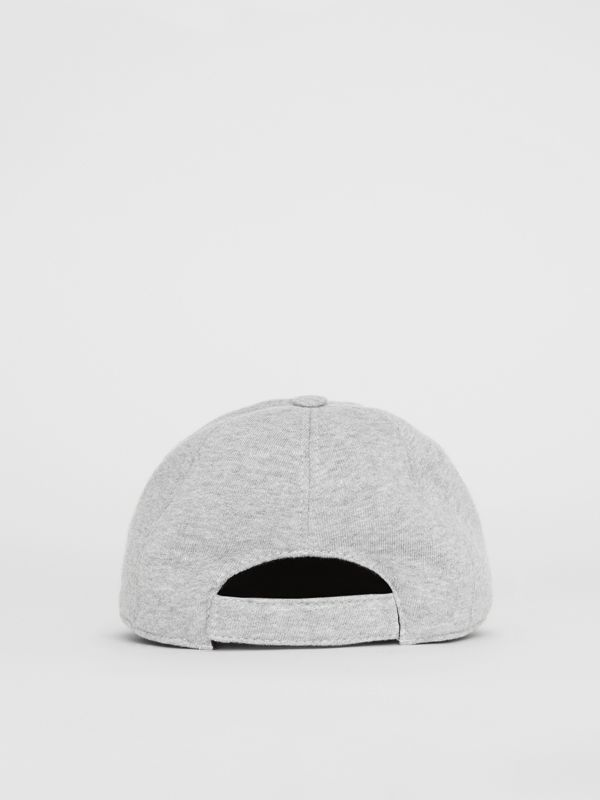 Embroidered Logo Baseball Cap in Light Grey Melange - Children | Burberry United Kingdom - cell image 2