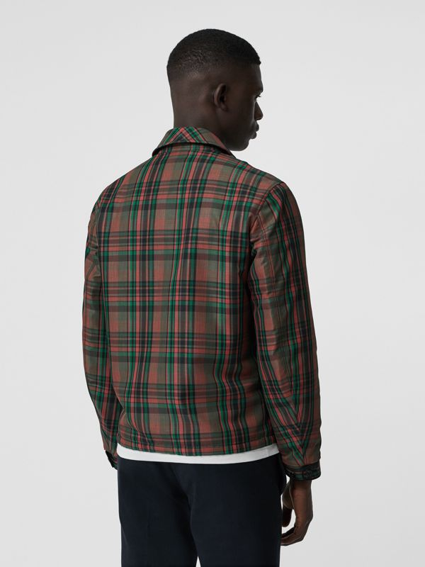 Fleece-lined Check Harrington Jacket in Russet Red - Men | Burberry - cell image 2