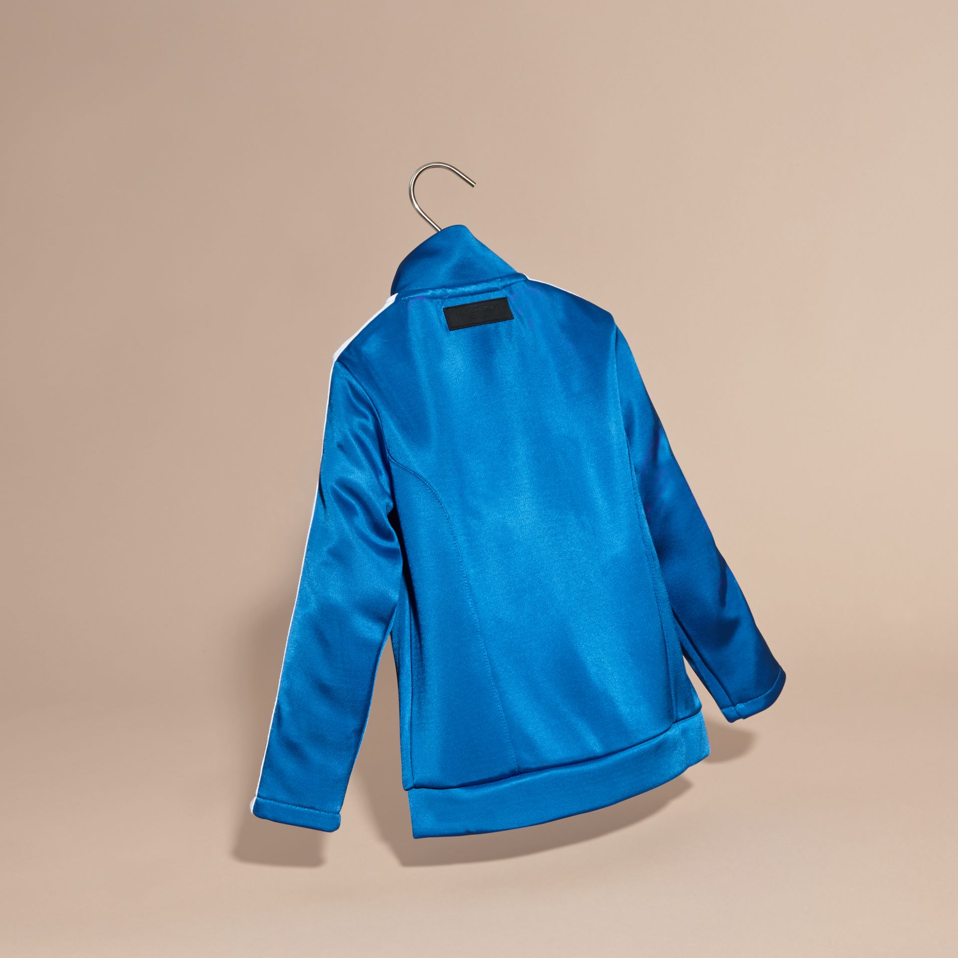 High-shine Technical Track Jacket in Atlantic Blue - gallery image 4