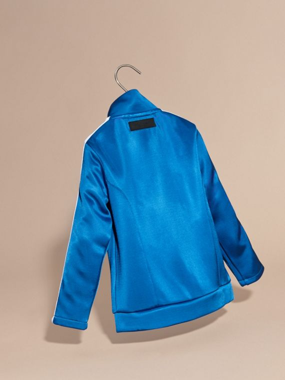 High-shine Technical Track Jacket in Atlantic Blue - cell image 3
