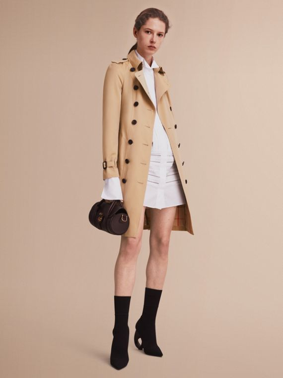 The Sandringham - Trench coat Heritage lungo Miele