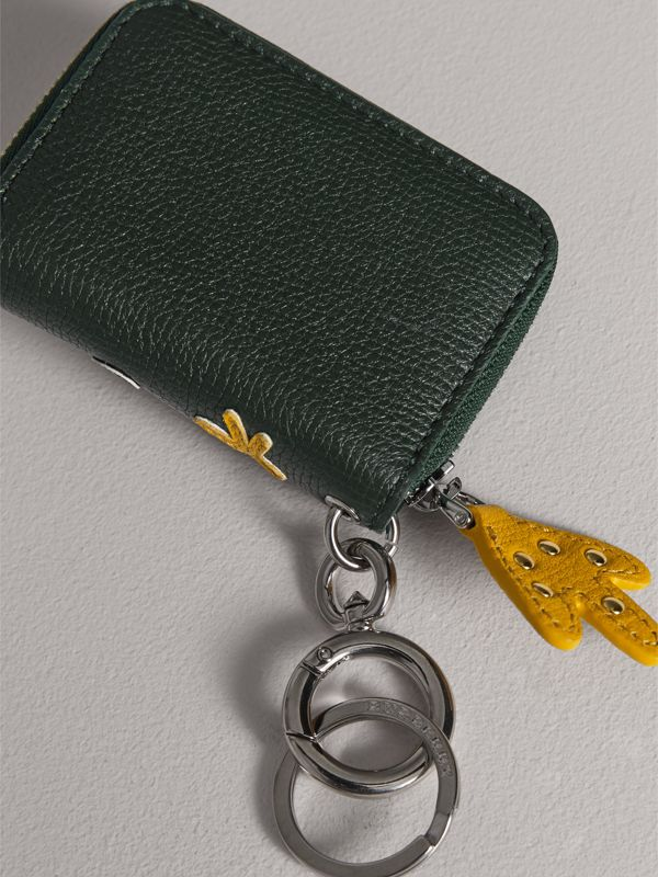 Creature Appliqué Leather Notebook Charm in Racing Green | Burberry - cell image 2