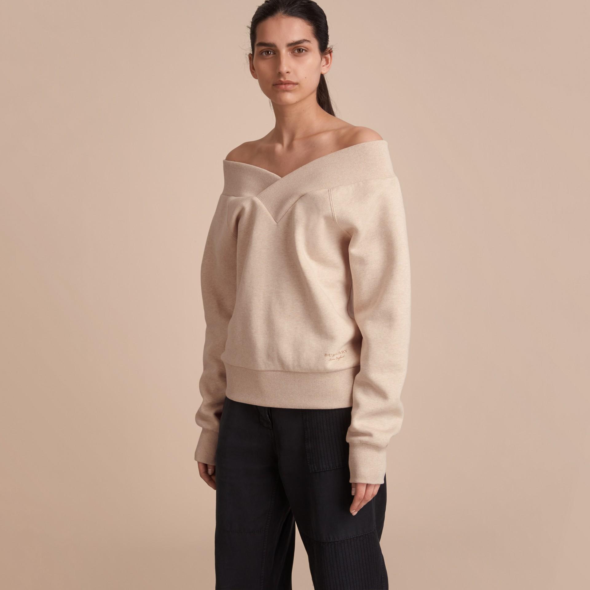 Off-the-shoulder Sweatshirt - gallery image 1