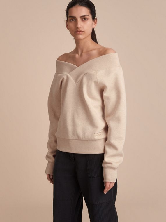 Off-the-shoulder Sweatshirt