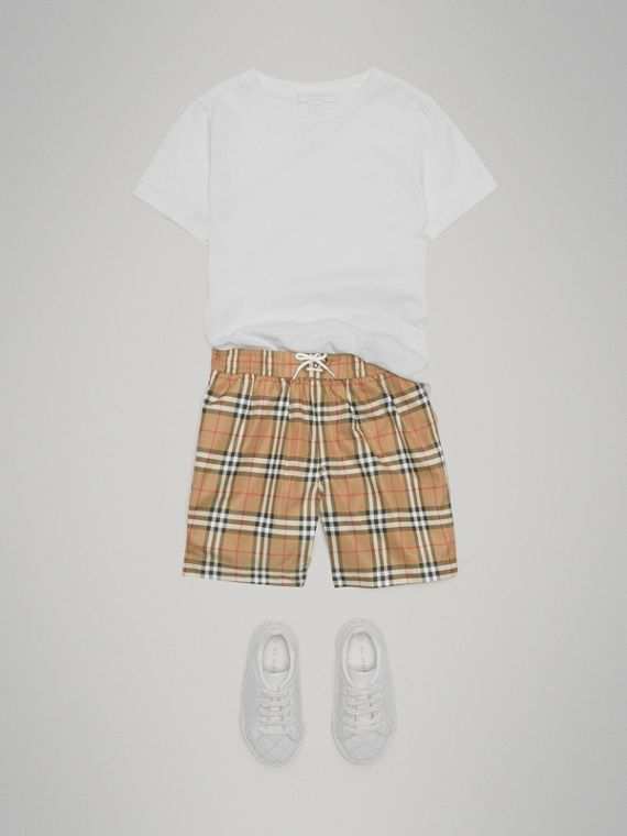Vintage Check Swim Shorts in Camel - Boy | Burberry Hong Kong - cell image 2
