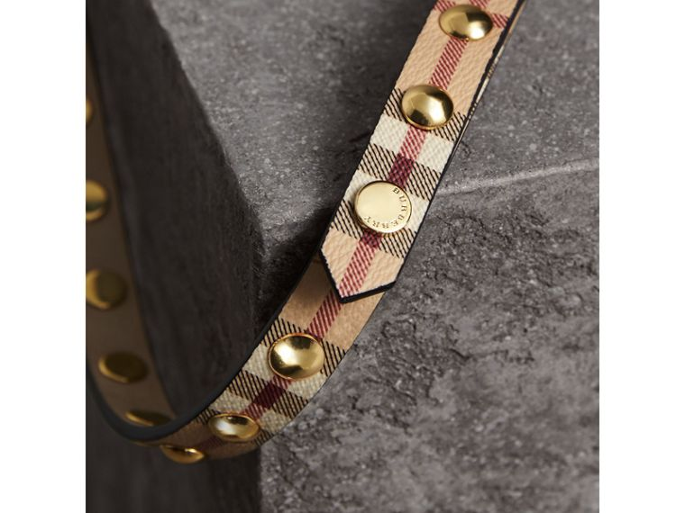 Studded Haymarket Check Double-wrap Belt - cell image 1