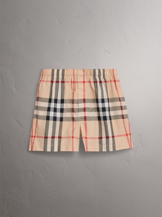 Check Twill Cotton Boxer Shorts in New Classic