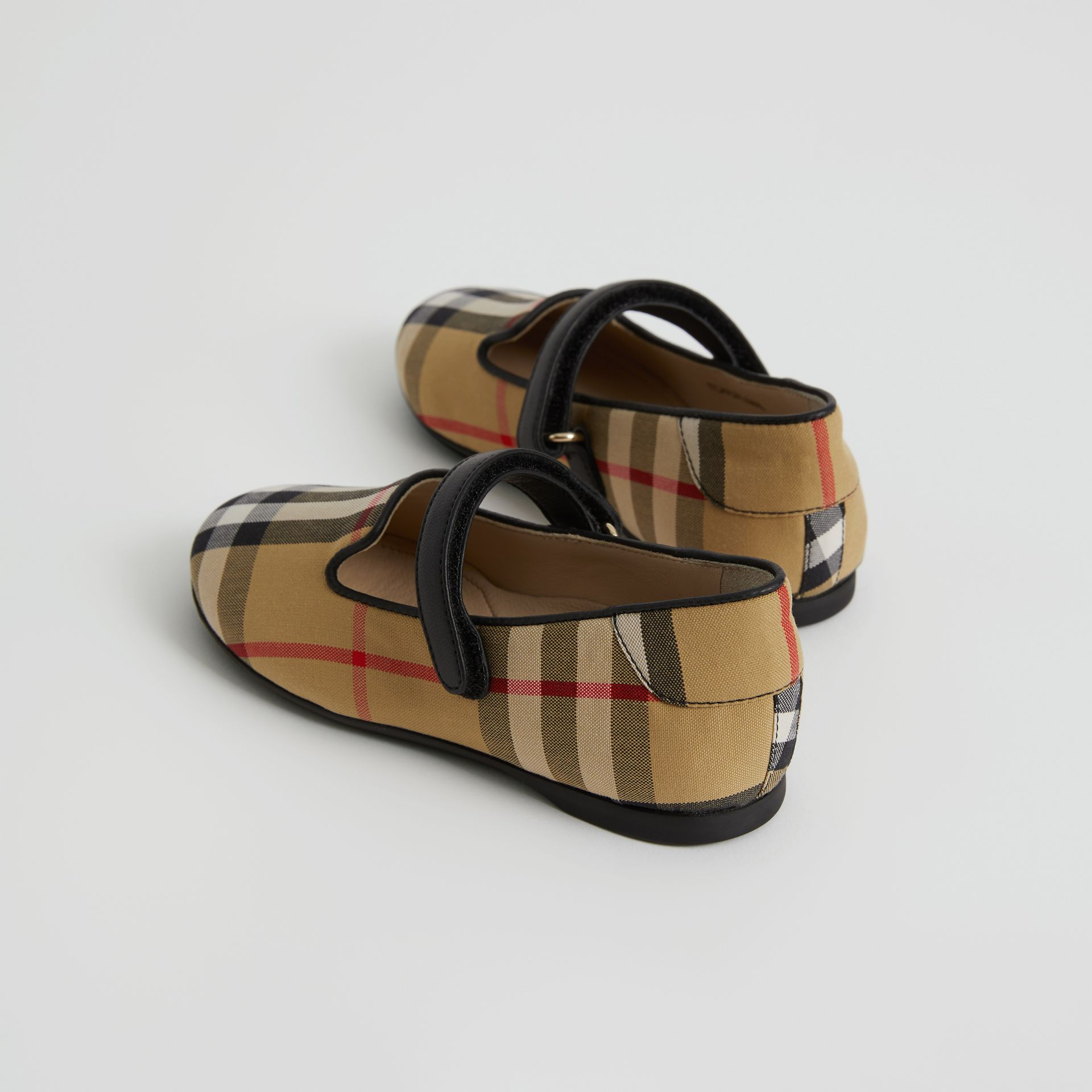 D-ring Strap Vintage Check Slippers in Antique Yellow - Children | Burberry United Kingdom - gallery image 2