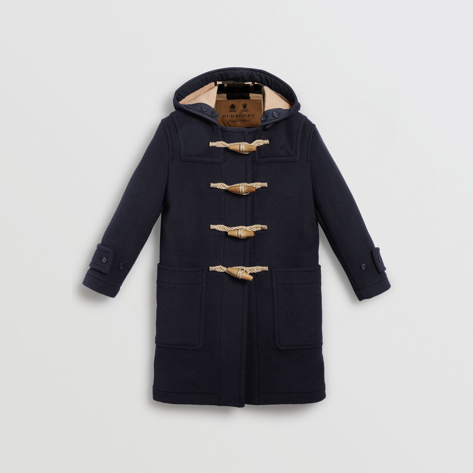 The Greenwich Duffle Coat in Navy - Women | Burberry Australia - gallery image 3