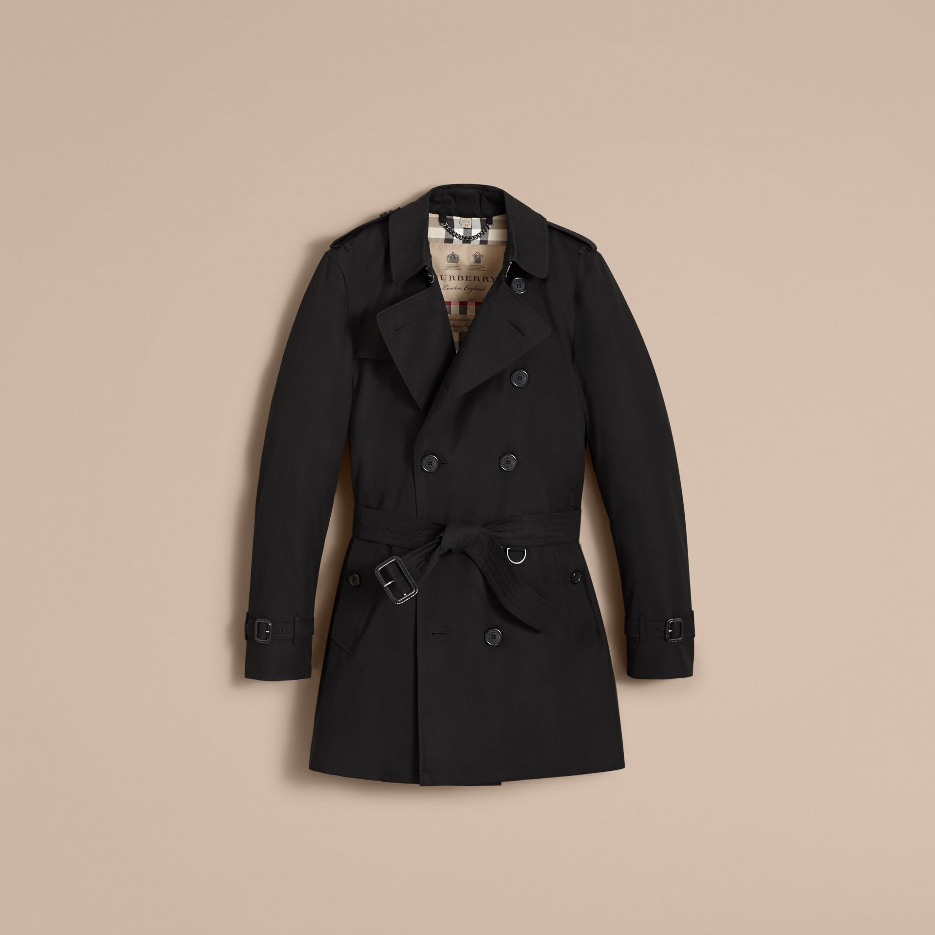 Black The Kensington – Mid-Length Heritage Trench Coat Black - gallery image 5