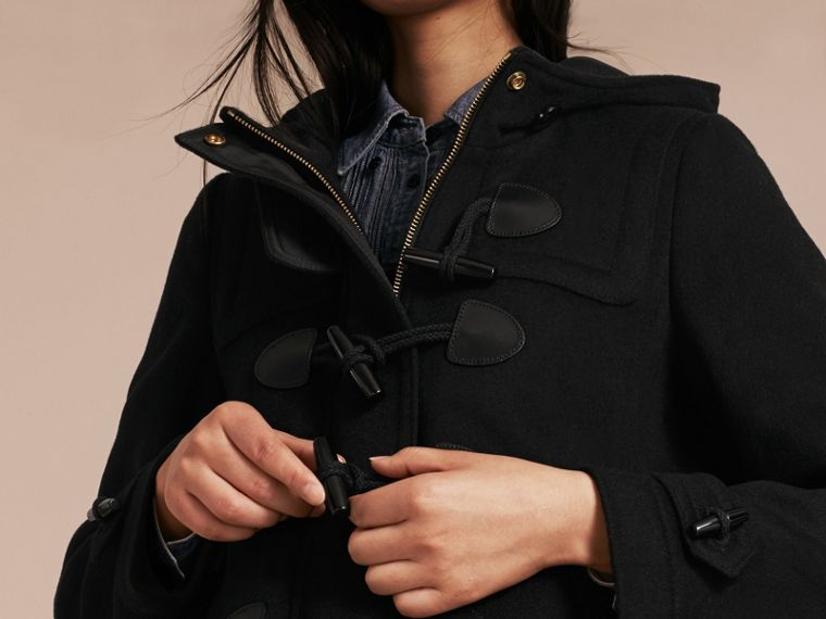Black Straight Fit Duffle Coat Black - cell image 4