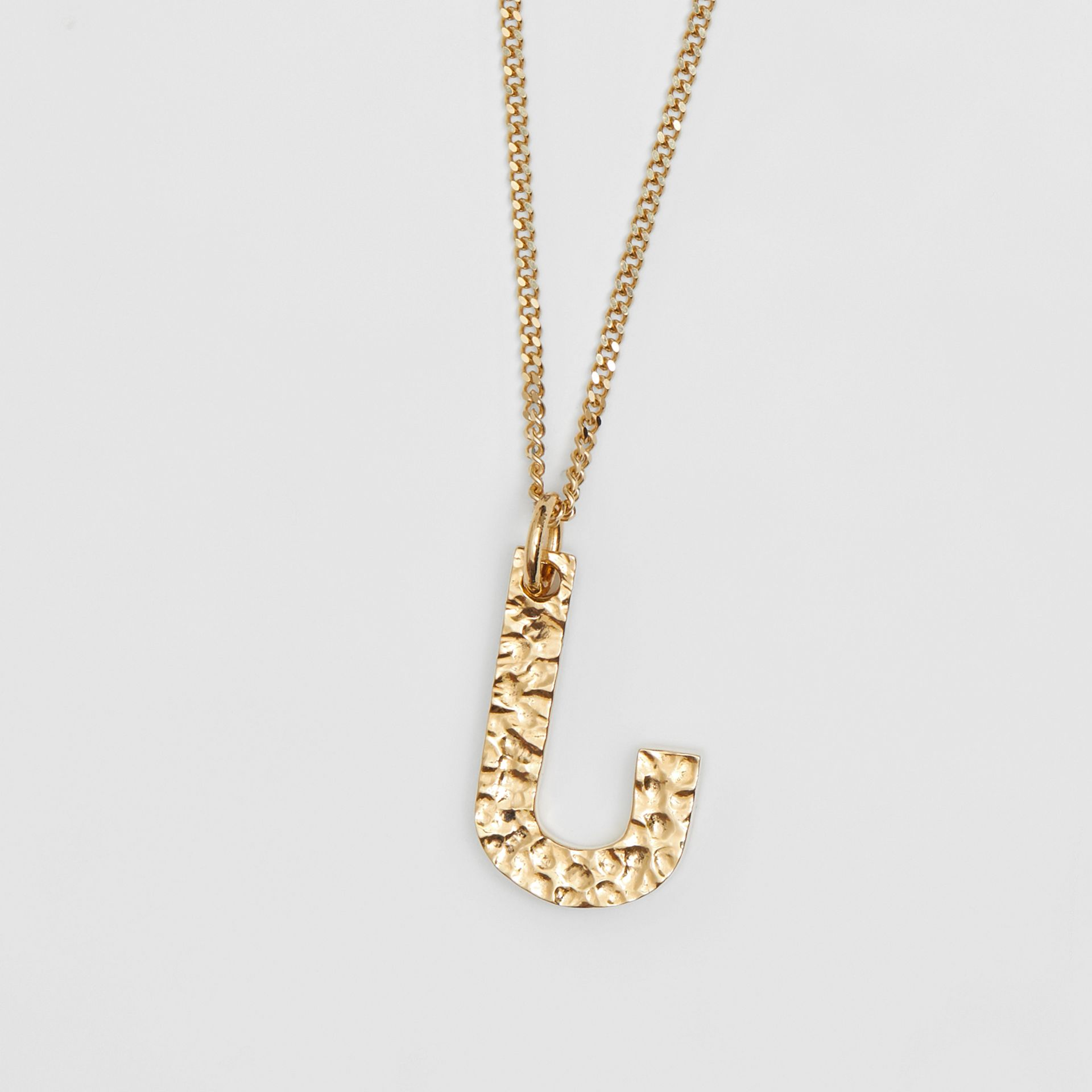 'J' Alphabet Charm Gold-plated Necklace in Light - Women | Burberry United Kingdom - gallery image 2