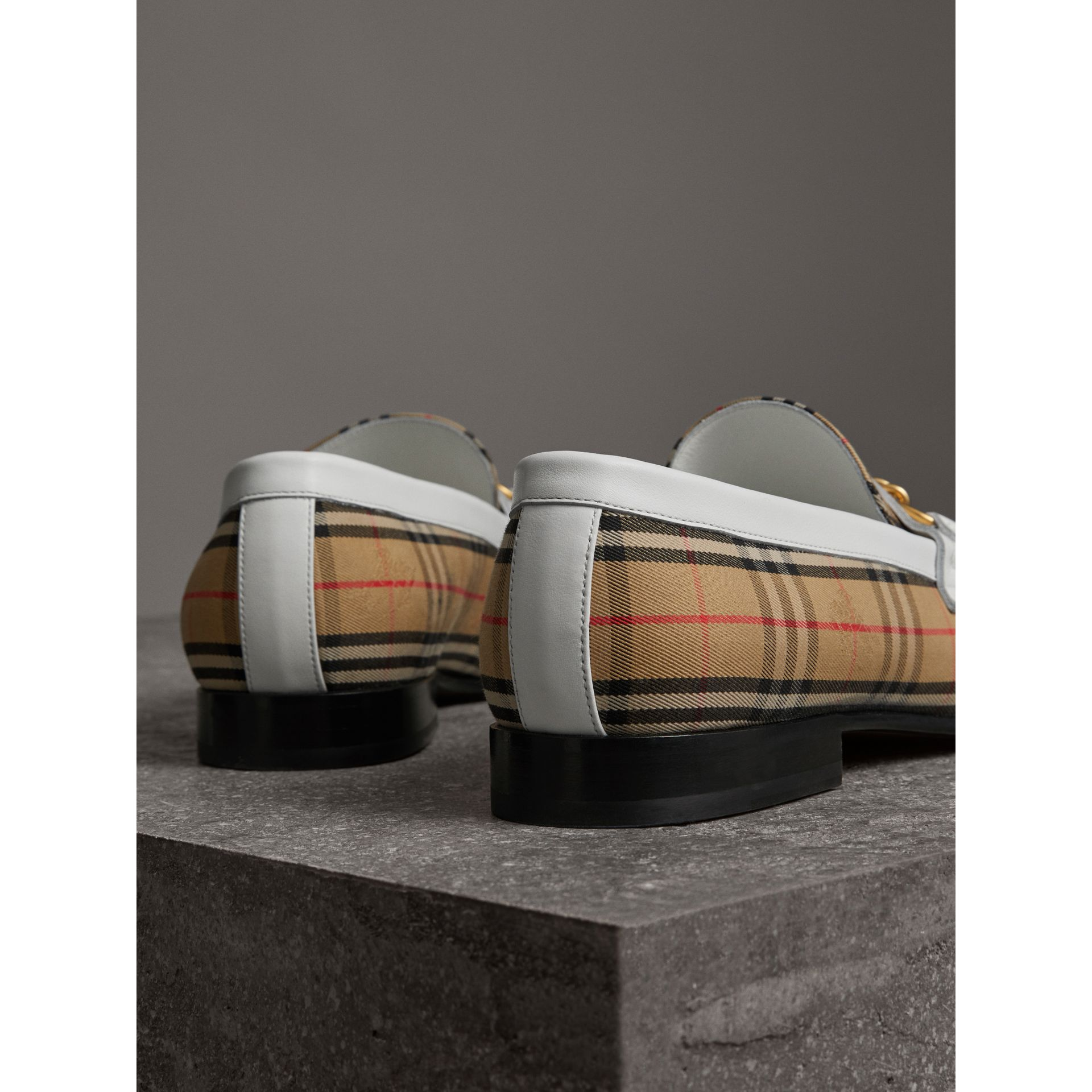 The 1983 Check Link Loafer in Off White | Burberry United Kingdom - gallery image 3