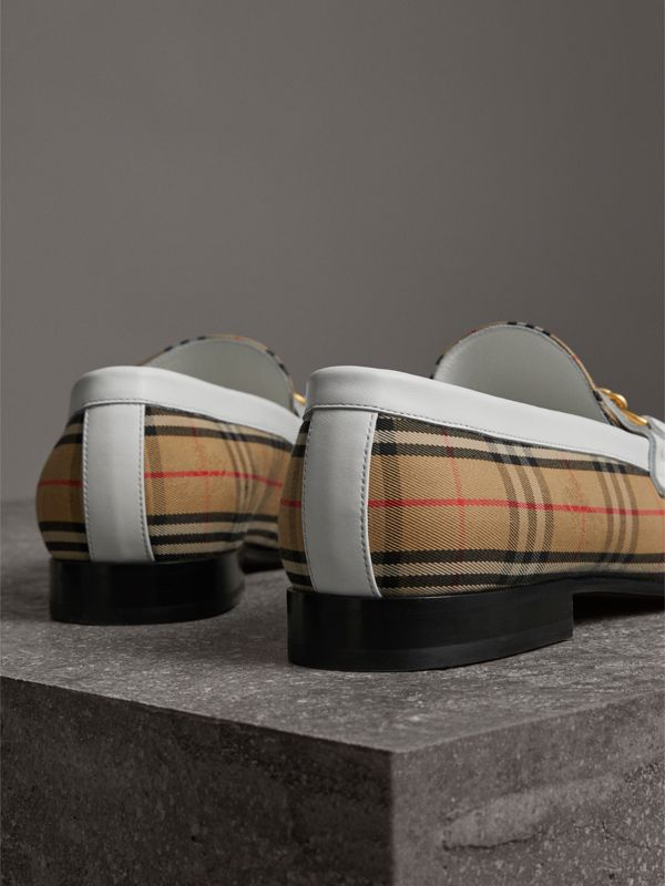 Mocassins The Link à motif check de 1983 (Blanc Cassé) | Burberry - cell image 3
