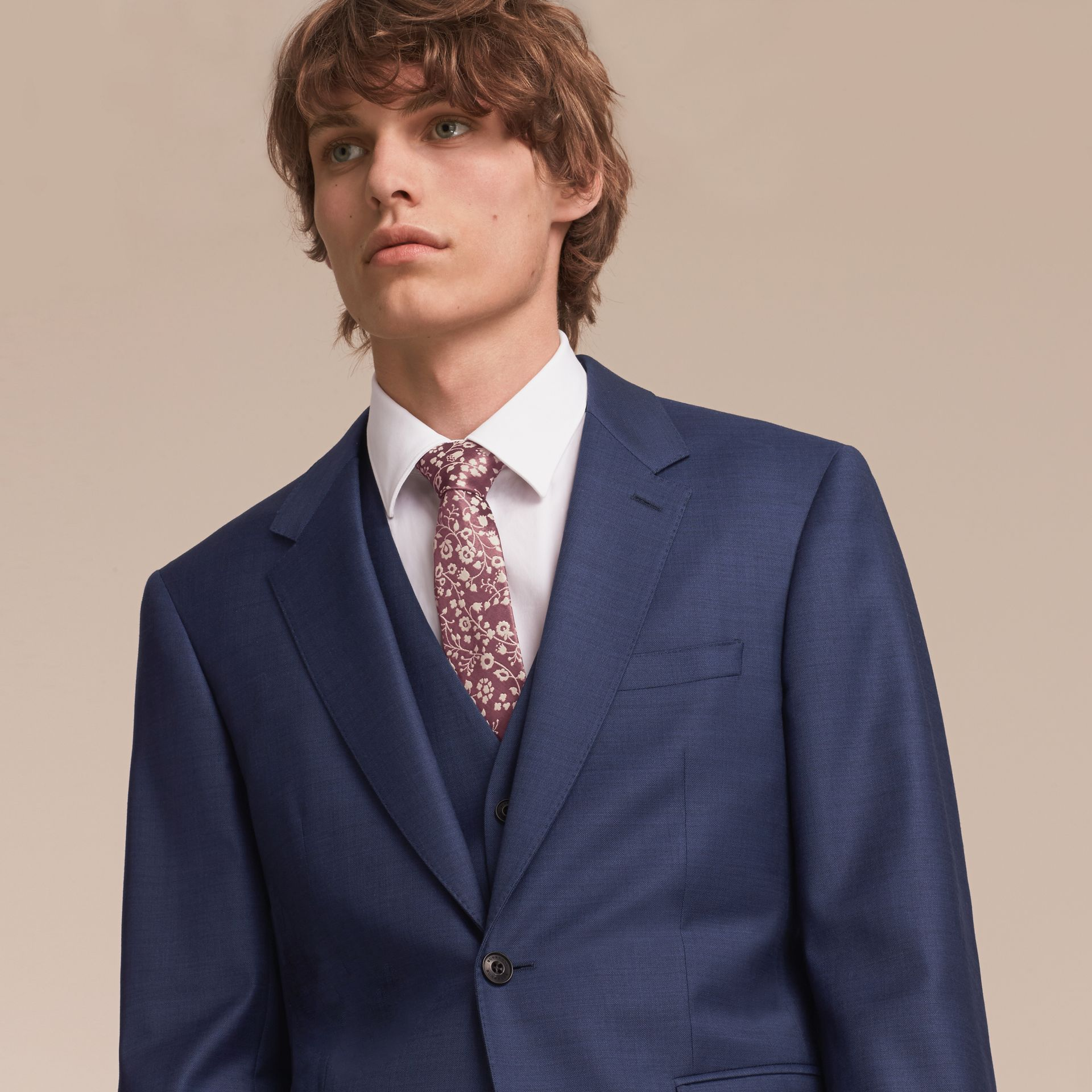 Modern Cut Floral Silk Jacquard Tie - Men | Burberry - gallery image 3