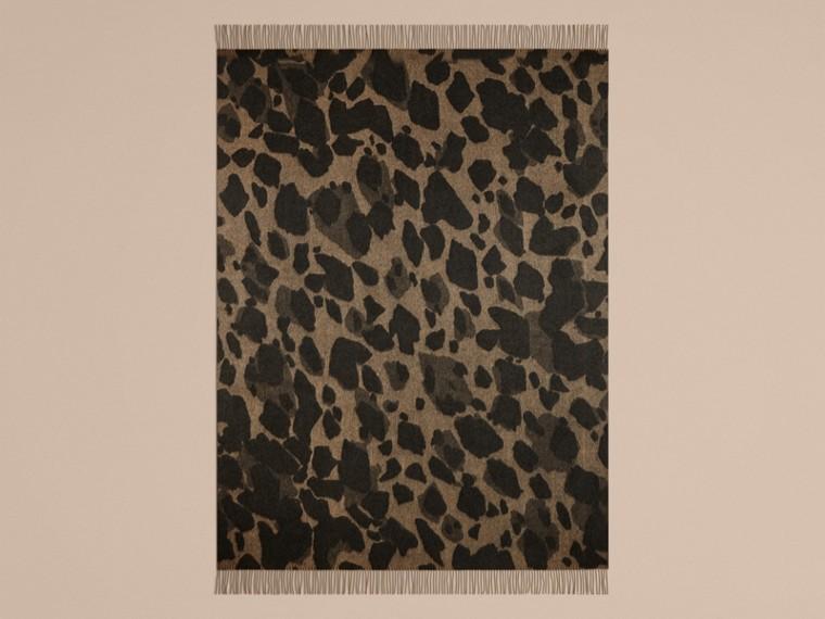 Camel print Animal Jacquard Cashmere Blanket Camel Print - cell image 1