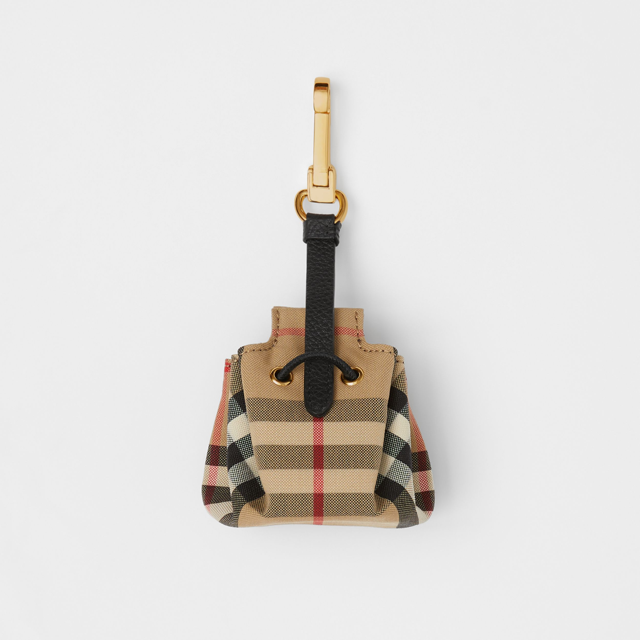Vintage Check Bucket Bag Charm in Archive Beige - Women | Burberry United States - 4