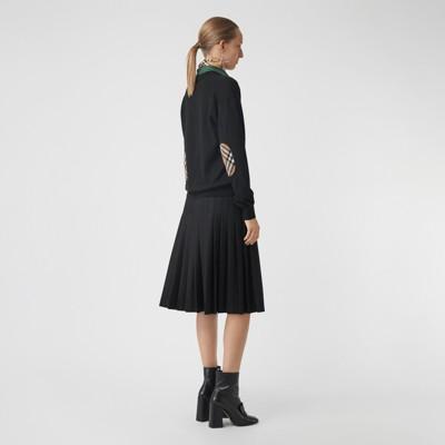 Vintage Check Detail Merino Wool Cardigan by Burberry