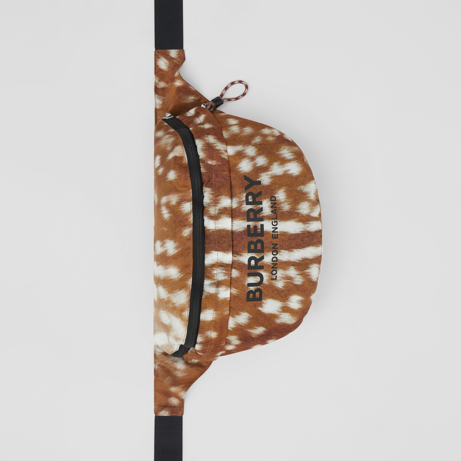 Deer Print Convertible Bum Bag in Tan/white | Burberry - gallery image 10