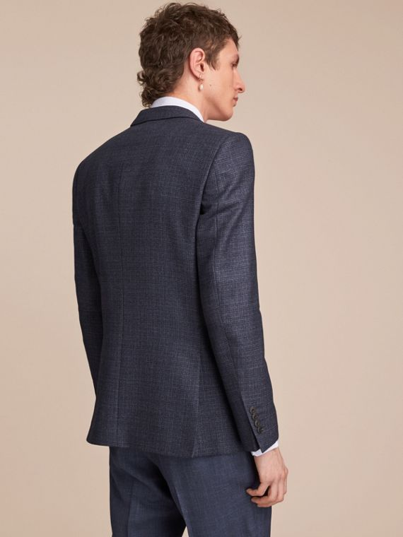 Slim Fit Lightweight Wool Part-canvas Suit in Bright Navy - Men | Burberry - cell image 2