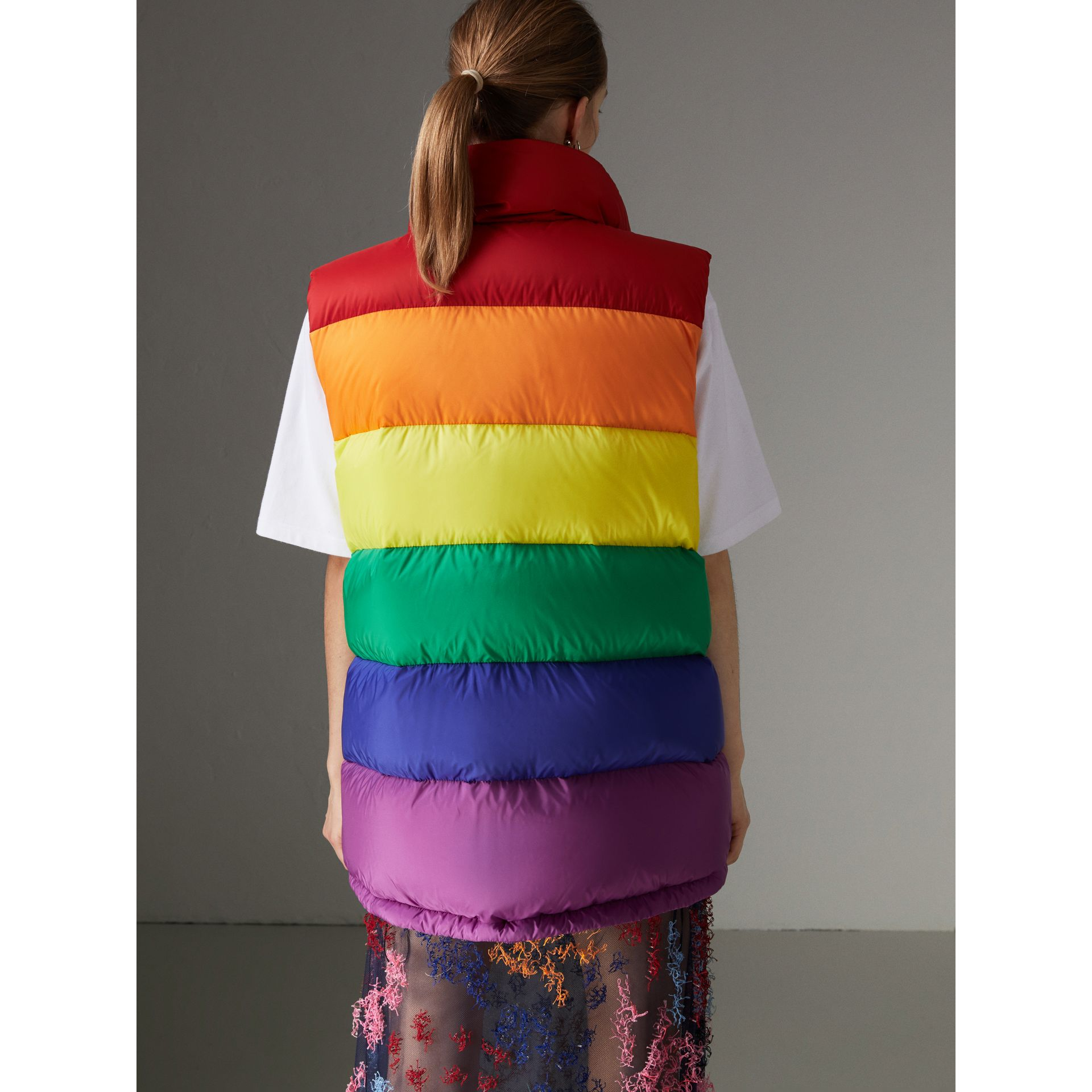 Rainbow Down-filled Gilet - Women | Burberry Singapore - gallery image 2