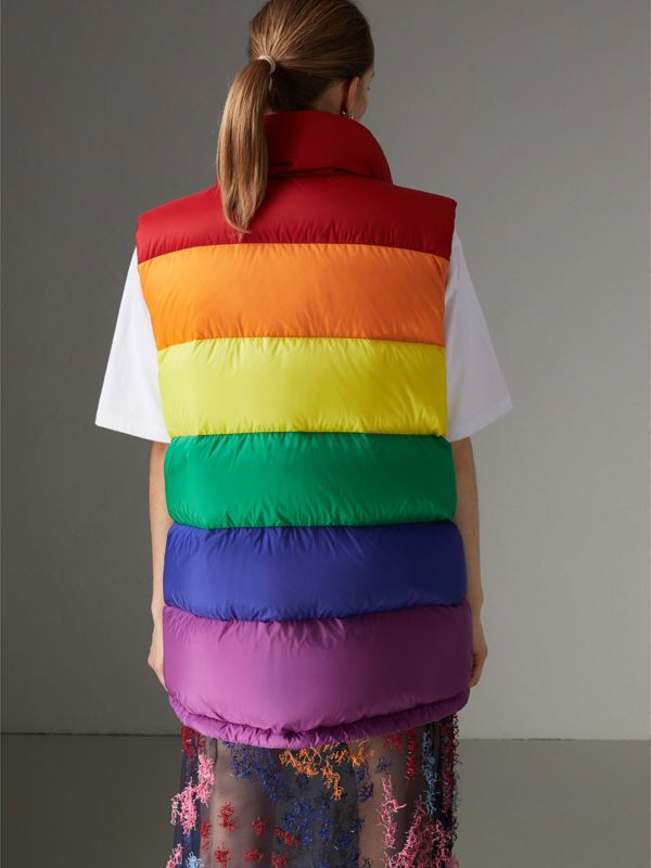Rainbow Down-filled Gilet in Multicolour - Women | Burberry - cell image 2
