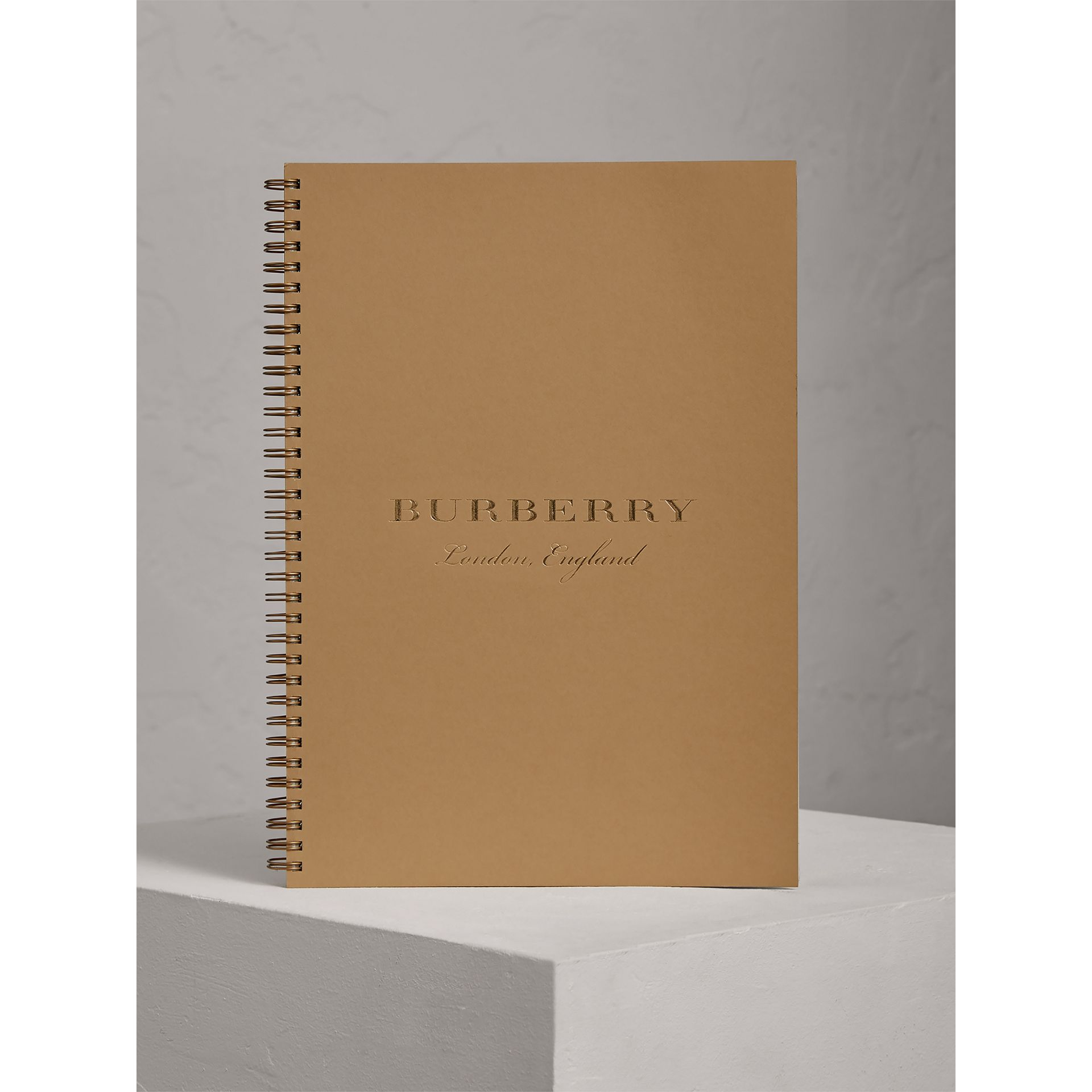 A4 Notebook Refill in Honey | Burberry United Kingdom - gallery image 0