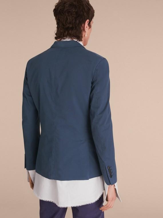 Slim Fit Stretch-cotton Blazer Navy - cell image 2