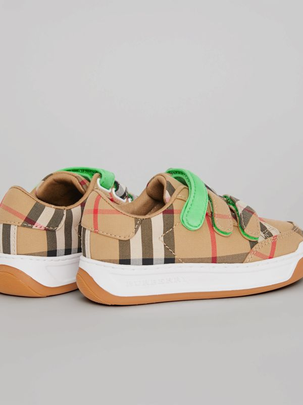 Vintage Check Sneakers in Antique Yellow/neon Green - Children | Burberry Singapore - cell image 2
