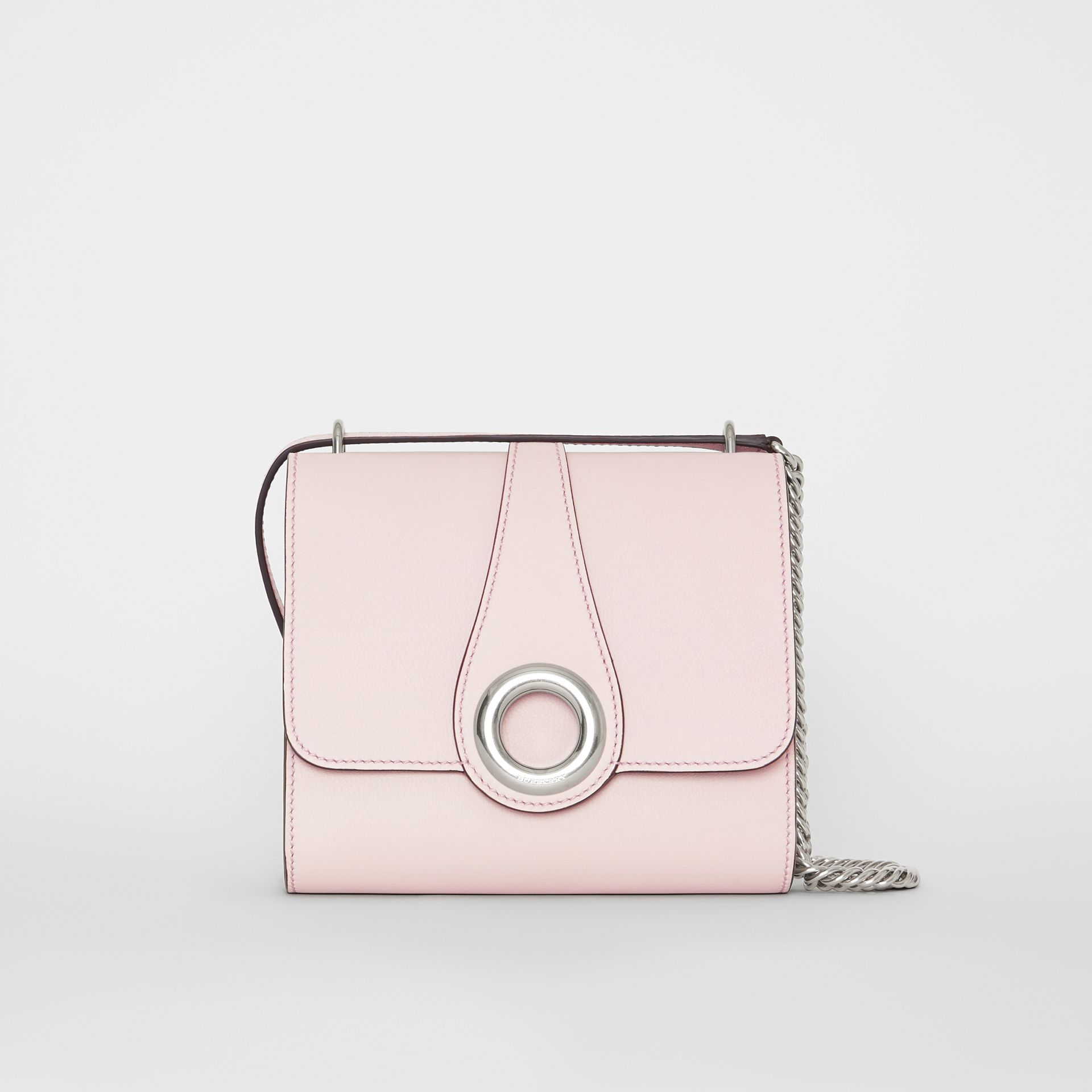 The Leather Grommet Detail Crossbody Bag in Chalk Pink - Women | Burberry - gallery image 0