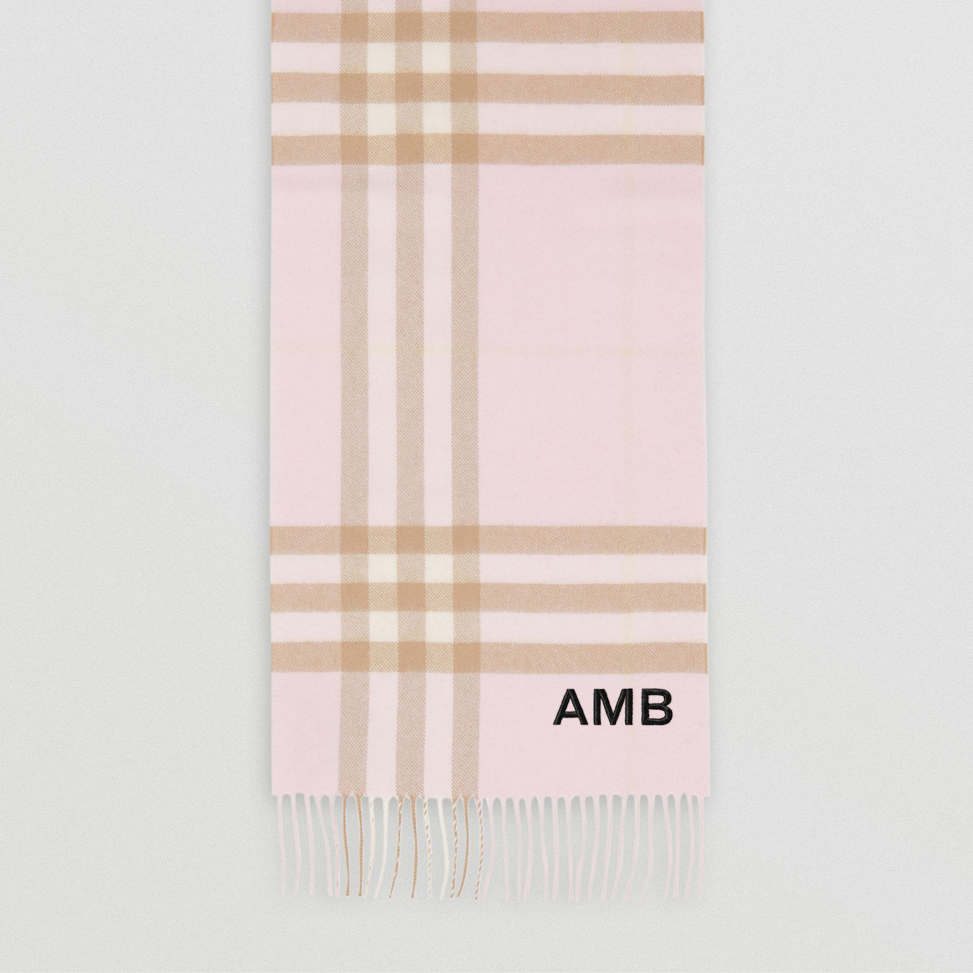 The Classic Check Cashmere Scarf in Alabaster | Burberry - gallery image 9