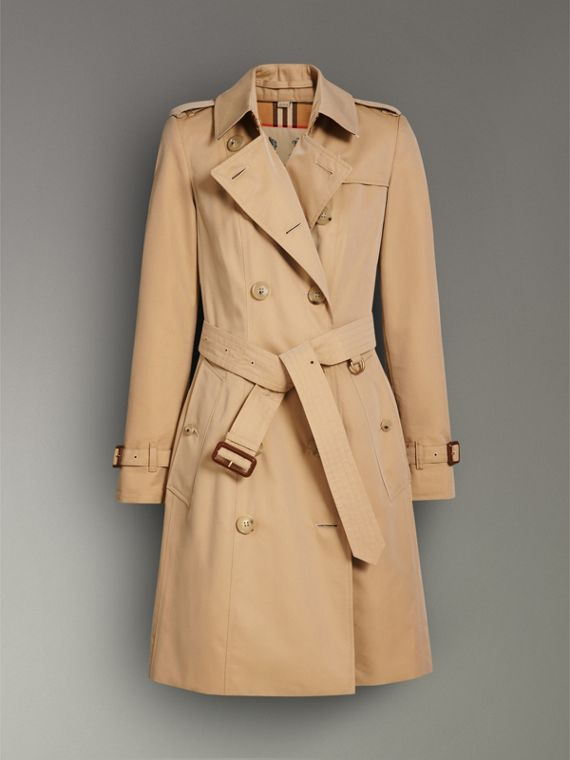 The Chelsea Heritage Trench Coat in Honey - Women | Burberry United Kingdom - cell image 3