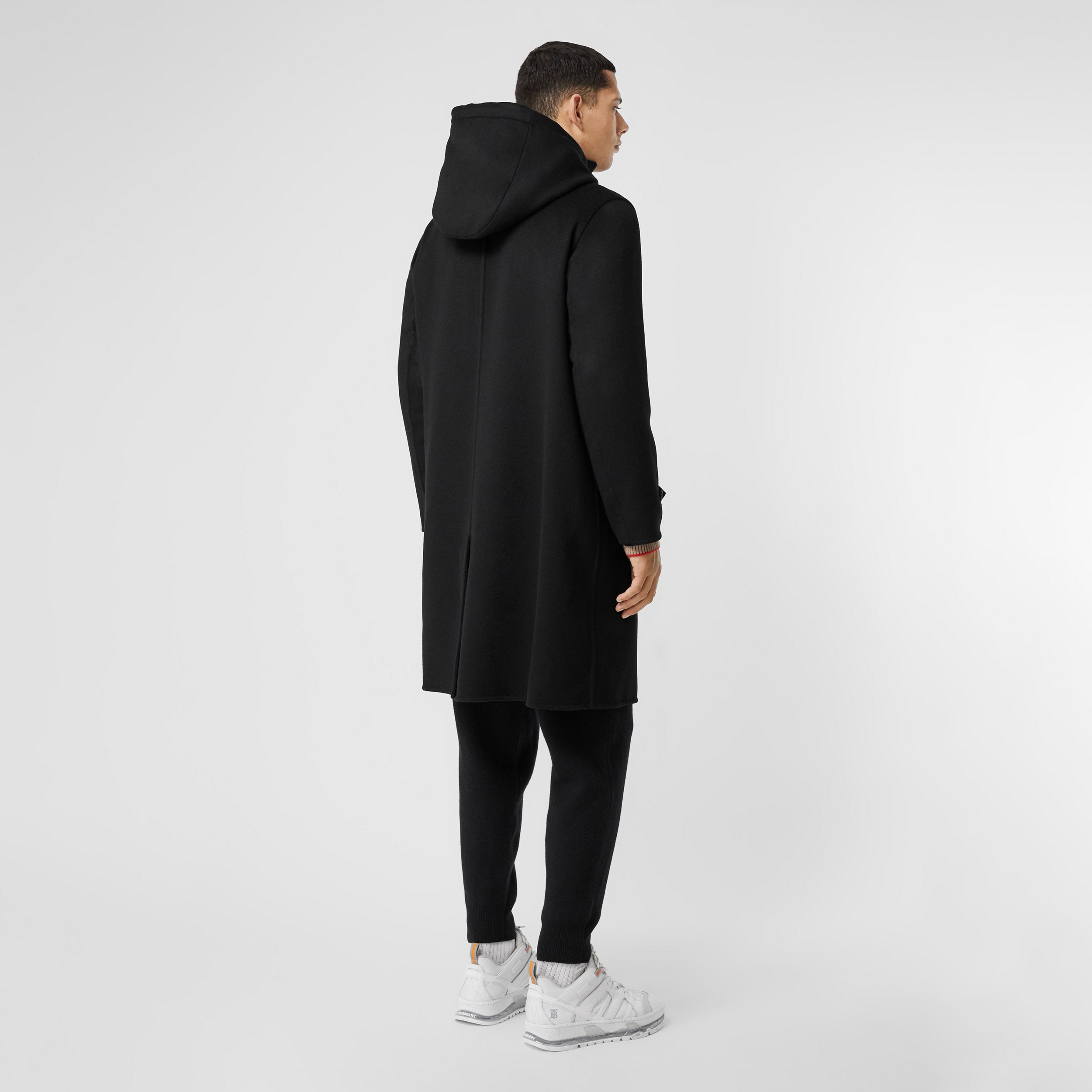 Double-faced Cashmere Hooded Coat in Black - Men | Burberry - 3