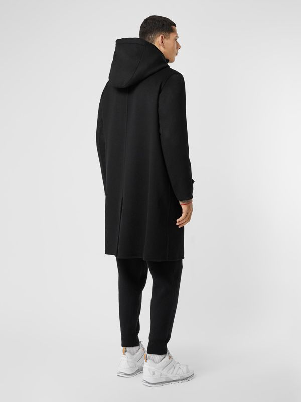 Cappotto con cappuccio in cashmere double face (Nero) - Uomo | Burberry - cell image 2