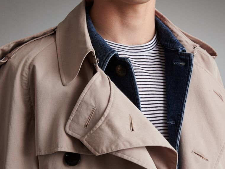Unisex Tropical Gabardine Trench Jacket in Light Taupe - Men | Burberry - cell image 4