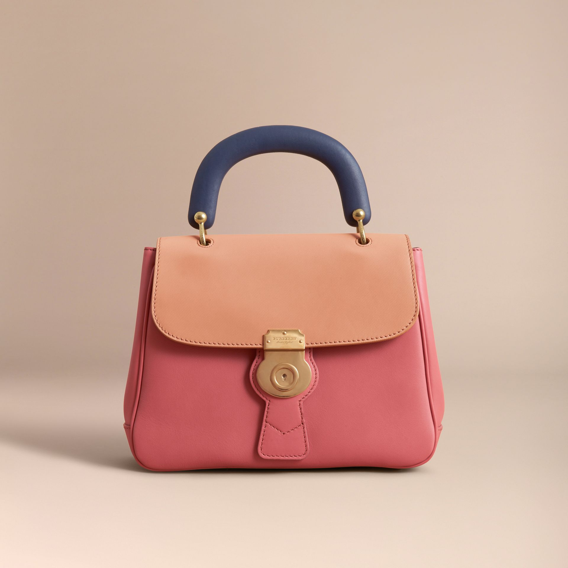 The Medium DK88 Top Handle Bag Blossom Pink/pale Clementine - gallery image 10