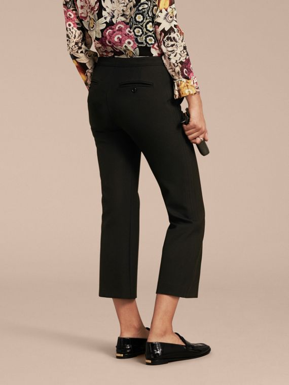 Black Cropped Tailored Trousers - cell image 2