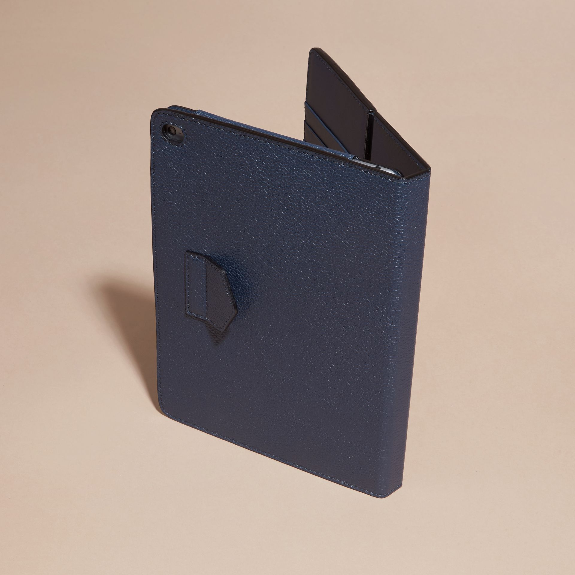 Bright navy Grainy Leather iPad Case Bright Navy - gallery image 4