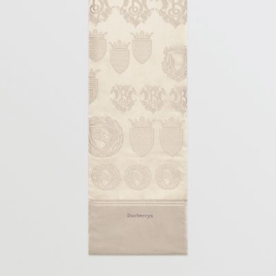 Archive Shield Silk Jacquard Puffer Scarf by Burberry