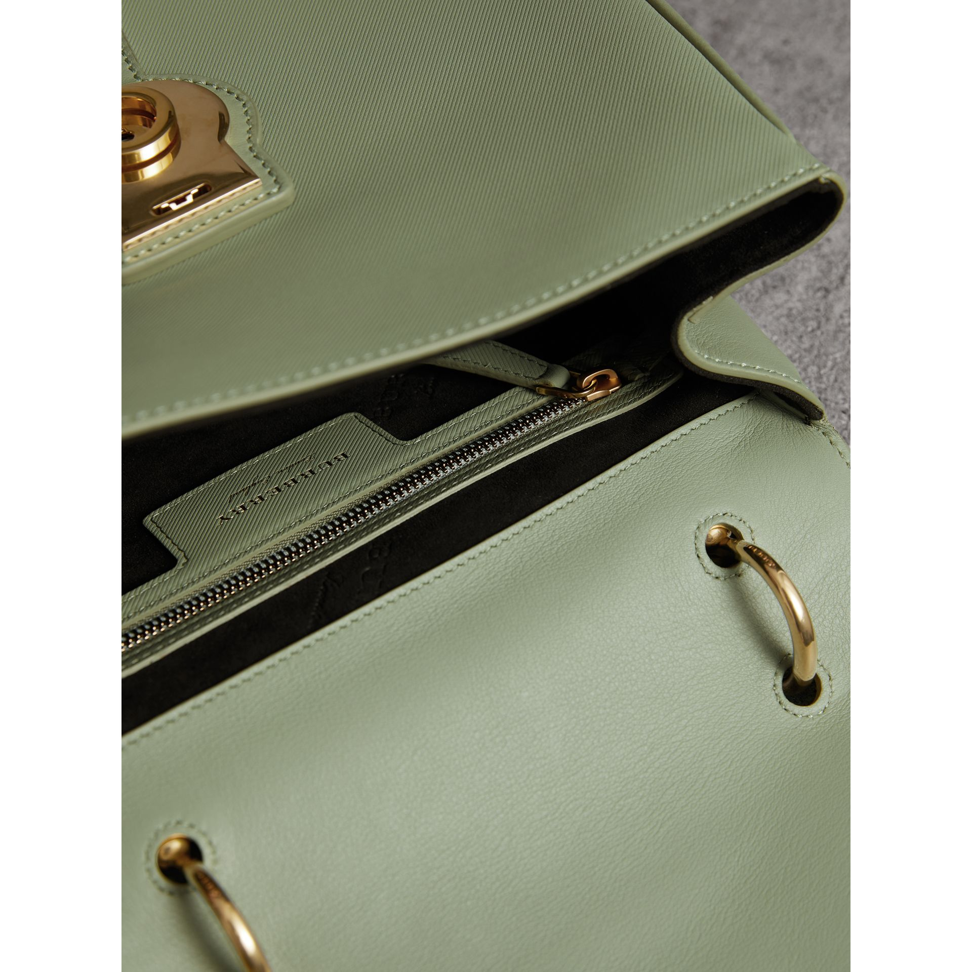 The Medium DK88 Top Handle Bag in Celadon Green - Women | Burberry United States - gallery image 5