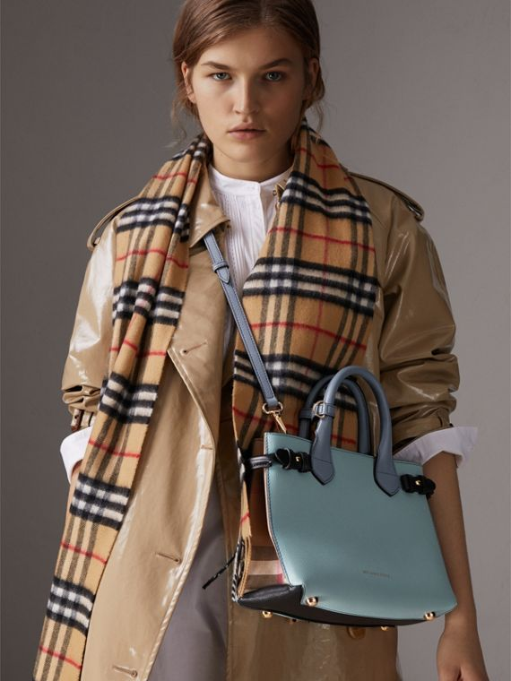 The Small Banner in Tri-tone Leather and House Check in Pale Opal/slate Blue - Women | Burberry United Kingdom - cell image 2