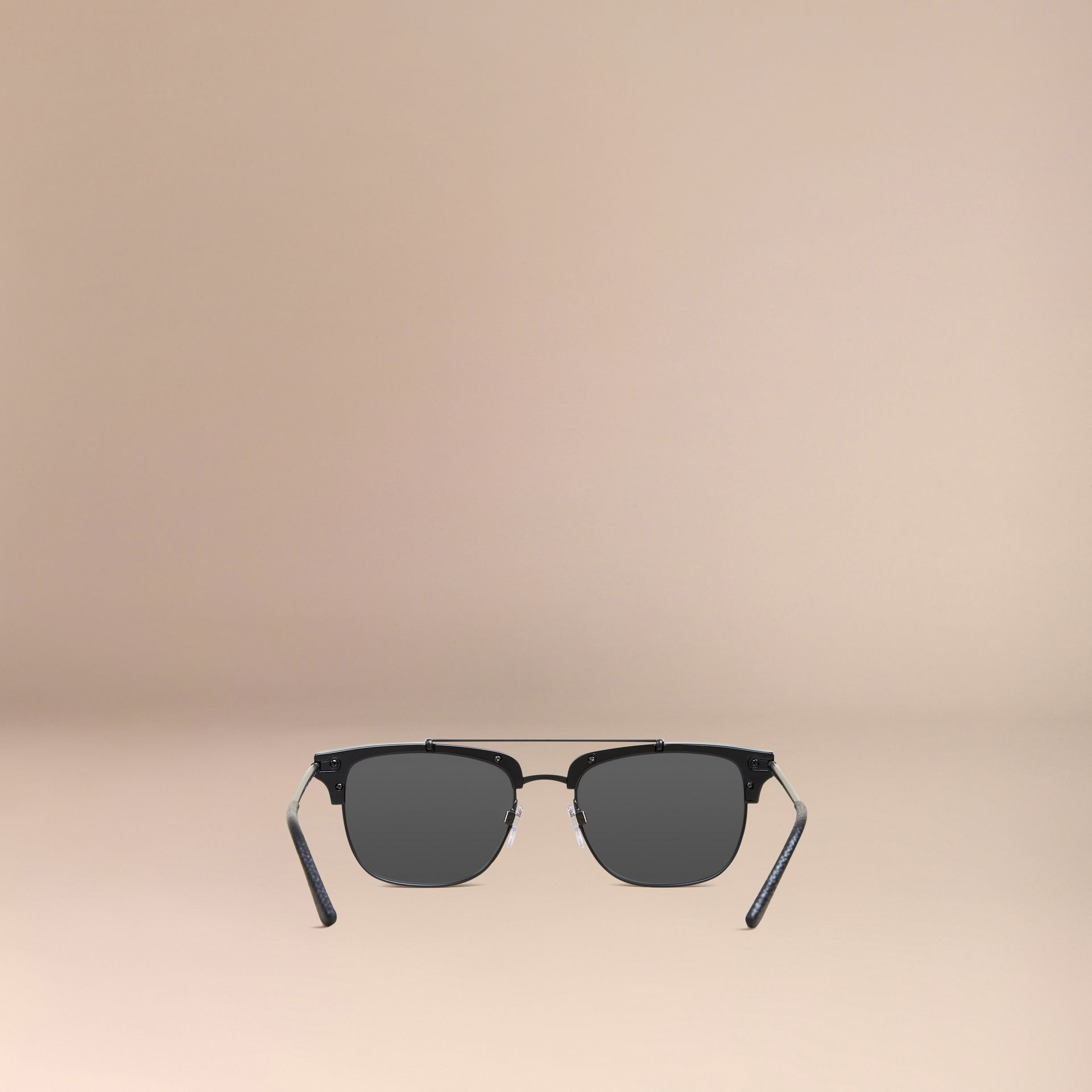 Square Frame Sunglasses in Black - gallery image 3